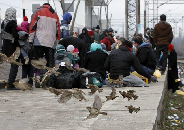 Refugiados en Macedonia (archivo)
