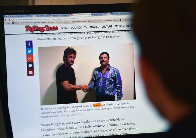 La entrevista de Sean Penn con el 'Chapo' Guzmán en el sitio web de la revista Rolling Stone