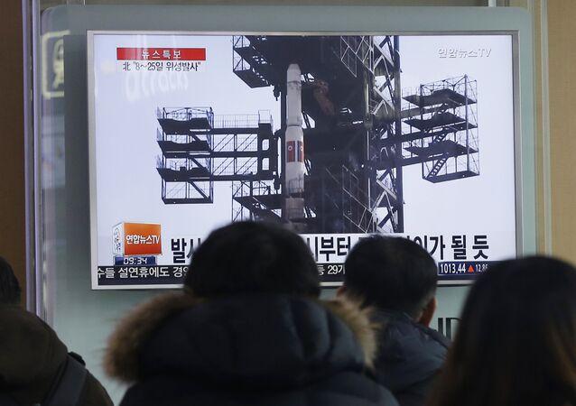 Lanzamiento de un cohete norcoreano (archivo)