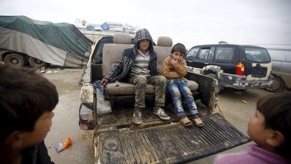 Niños refugiados sirios - Sputnik Mundo