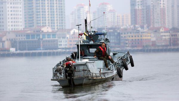 Una lancha patrullera de Corea del Norte (archivo) - Sputnik Mundo