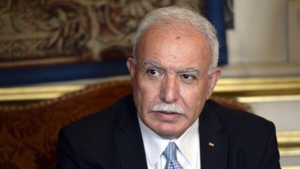 Riyad al-Malki, canciller de Palestina - Sputnik Mundo