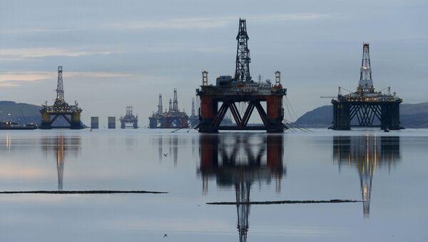 Plataformas de perforación en Mar del Norte - Sputnik Mundo