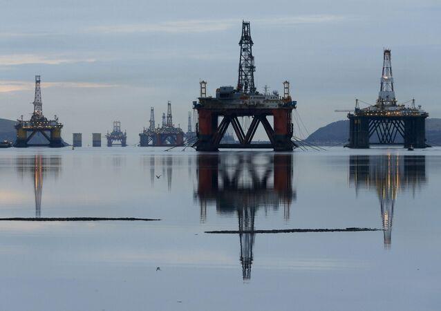 Plataformas de perforación en Mar del Norte