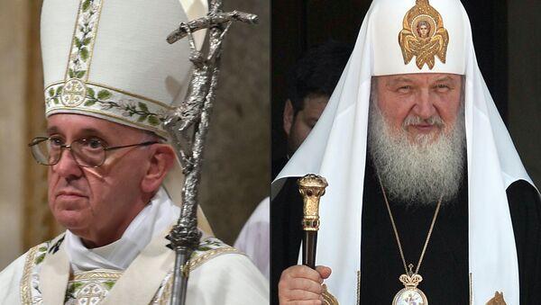 Papa Francisco y el patriarca ruso Kiril - Sputnik Mundo