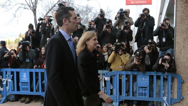 Cristina de Borbón con su esposo, Iñaki Urdangarin - Sputnik Mundo