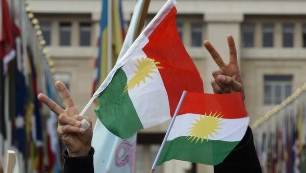 Banderas de Kurdistán - Sputnik Mundo