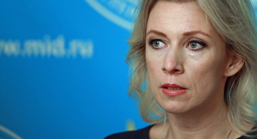 Maria Zajárova, portavoz del Ministerio de Exteriores de Rusia