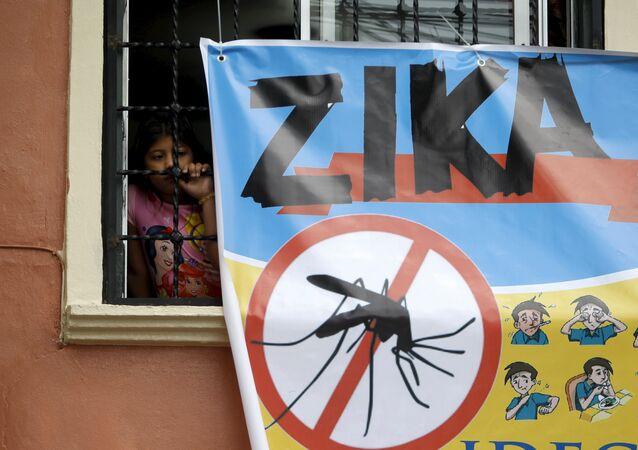 Cartel sobre el Zika en Honduras