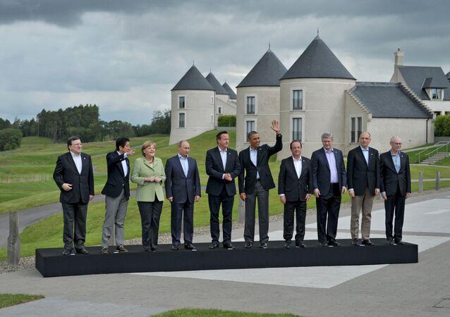 Los líderes de G8 en 2013 (archivo)