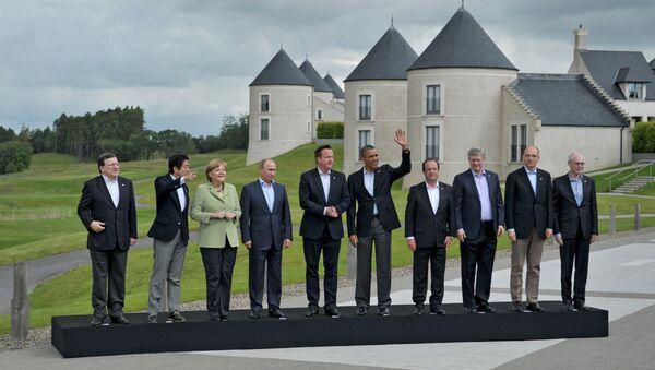 Participantes de la cumbre G8 (archivo) - Sputnik Mundo