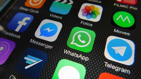 Aplicaciones de Whatsapp, Facebook Messenger, Telegram - Sputnik Mundo