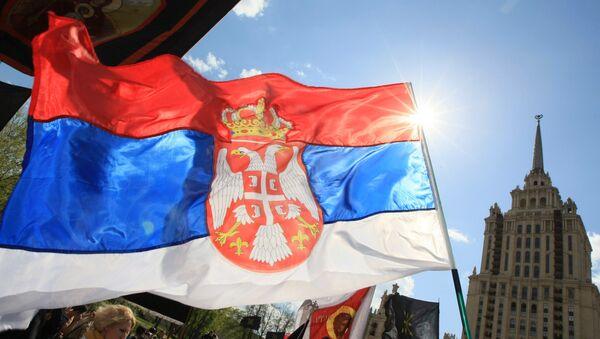La bandera de Serbia - Sputnik Mundo