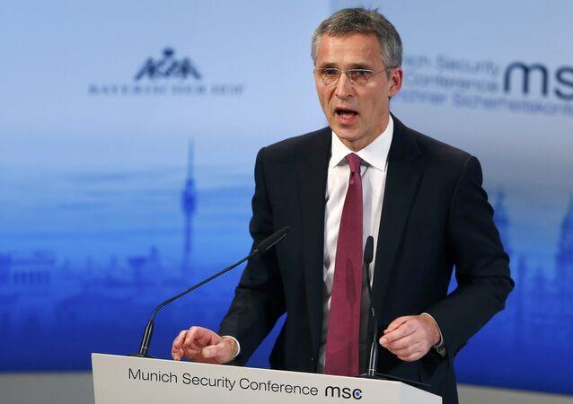 Jens Stoltenberg, el secretario general de la OTAN, durante la Conferencia de Seguridad de Múnich