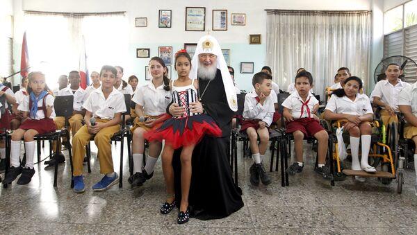 Patriarca Kiril en la Escuela Especial Solidaridad con Panamá - Sputnik Mundo