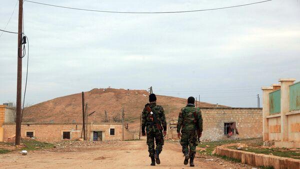 Soldados sirios en la provincia de Alepo - Sputnik Mundo