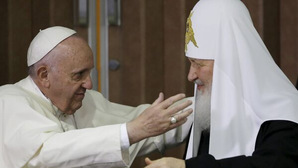 Papa Francisco y patriarca ruso Kiril - Sputnik Mundo
