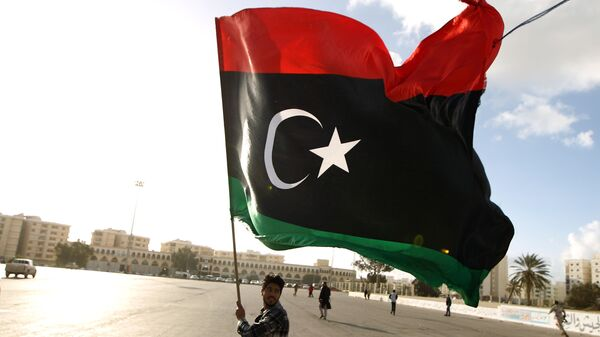 Bandera de Libia (archivo) - Sputnik Mundo