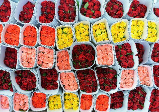 Flores para el Día de San Valentín en la India