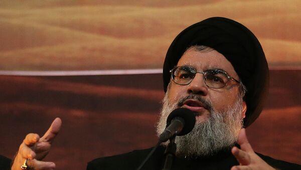 Hezbollah leader Sheik Hassan Nasrallah - Sputnik Mundo