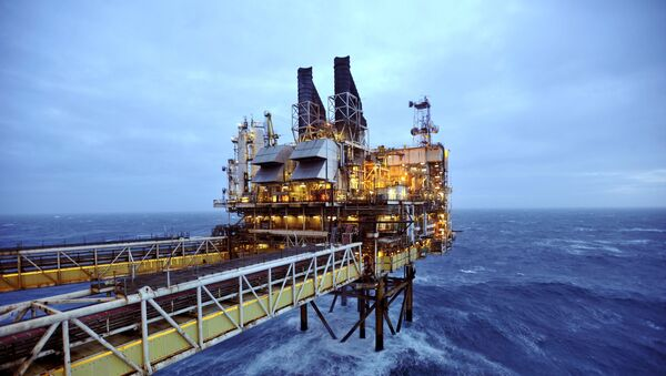 Plataforma petrolífera en el Mar del Norte - Sputnik Mundo