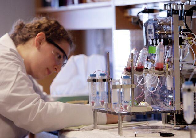 La máquina de pruebas de sangre