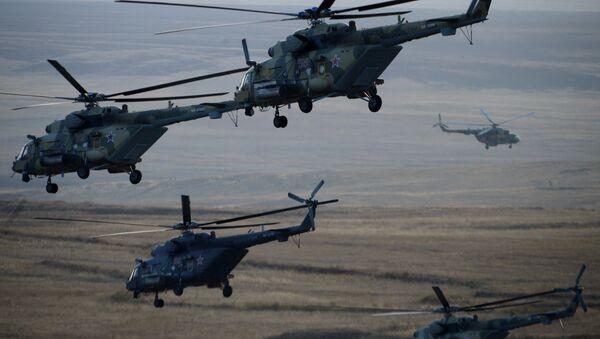 Helicópteros Mi-8MTV (archivo) - Sputnik Mundo