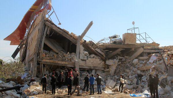 Restos del hospital de Médicos Sin Fronteras en la ciudad siria de Idlib - Sputnik Mundo