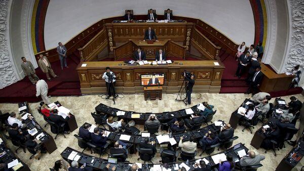 Una sesión en la Asamblea Nacional venezolana - Sputnik Mundo