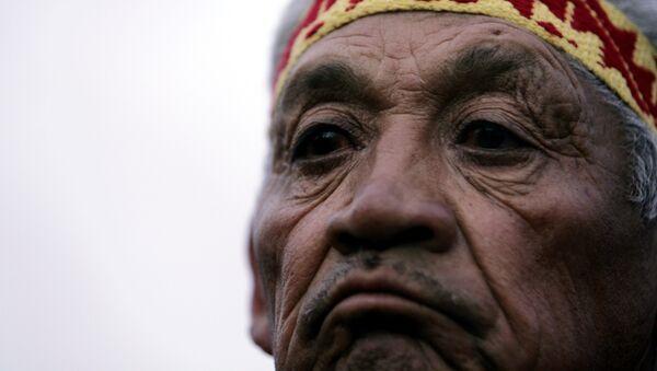 Un indígena mapuche asiste a la ceremonia de beatificación del indio argentino Ceferino Namuncura en Chimpay, Argentina - Sputnik Mundo