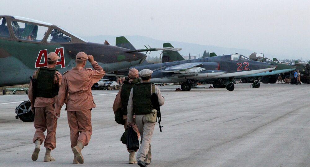 Las aeronaves rusas en Siria