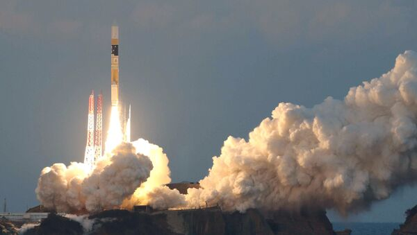 Lanzamiento del cohete japonés H2A con un satélite astronómico Astro-H - Sputnik Mundo