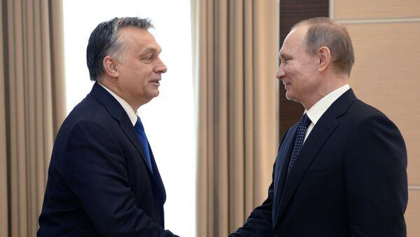 Primer ministro de Hungría, Viktor Orbán y presidente de Rusia, Vladímir Putin - Sputnik Mundo