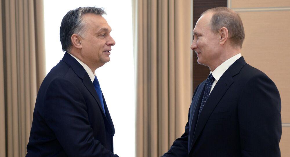 Primer ministro de Hungría, Viktor Orbán y presidente de Rusia, Vladímir Putin