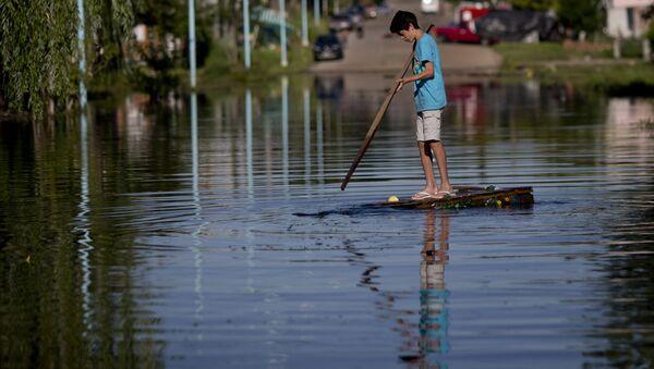 Inundación en Argentina (archivo) - Sputnik Mundo