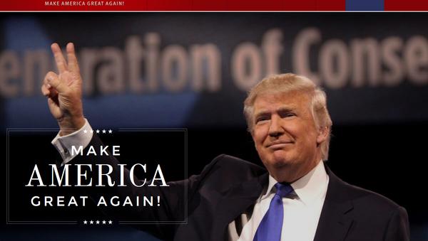 El sitio web de Donald Trump, donaldjtrump.com - Sputnik Mundo