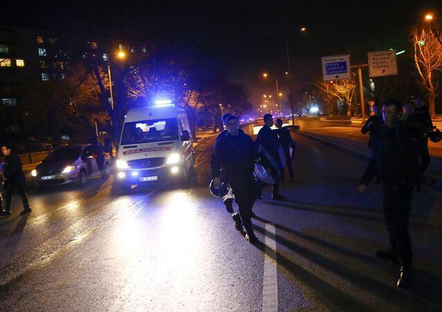 El lugar del atentado en Ankara