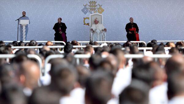 Papa Francisco visita CeReSo n. 3, penal de Juárez - Sputnik Mundo