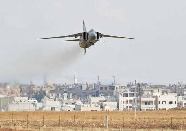 Военная авиабаза Хама в Сирии