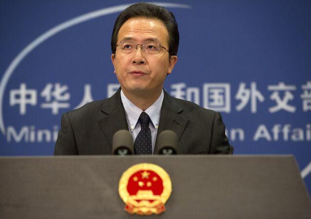 Hong Lei, el portavoz del Ministerio de Relaciones Exteriores de China