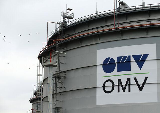 El logo de la compañía ÖMV