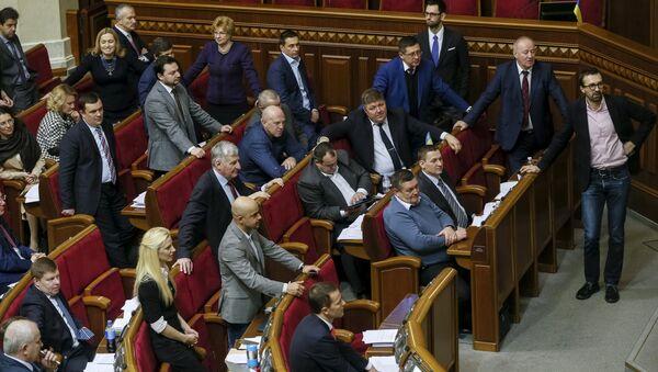Diputados de la Rada Suprema de Ucrania - Sputnik Mundo