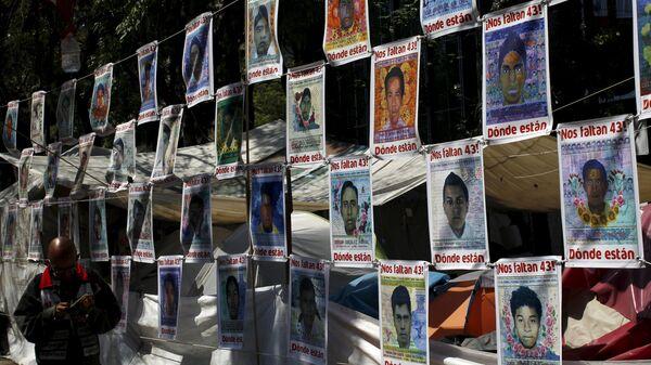 Fotos de los 43 estudiantes de la escuela de maestros rurales de Ayotzinapa desaparecidos el 27 de septiembre de 2014 - Sputnik Mundo