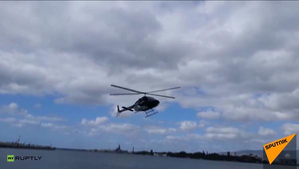 Un helicóptero se estrella en Pearl Harbor - Sputnik Mundo