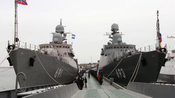 la Flotilla rusa del Caspio - Sputnik Mundo