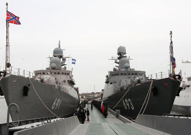 La Flotilla rusa del Caspio