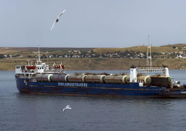 El estrecho de Kerch, Crimea, Rusia (archivo)