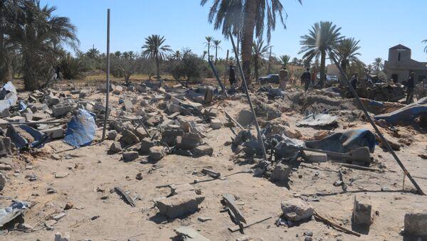 Libia después de un ataque aéreo de EEUU, Sabratha, Libia - Sputnik Mundo