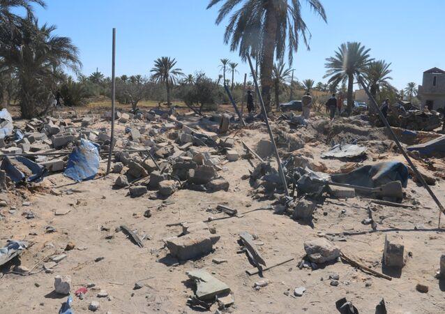 Libia después de un ataque aéreo de EEUU, Sabratha, Libia