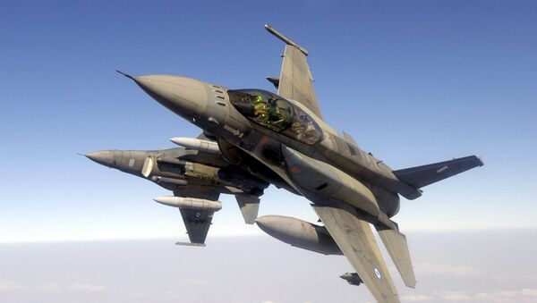 Dos cazas F-16 de las Fuerzas Aéreas de Grecia - Sputnik Mundo